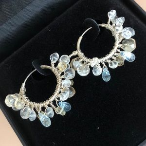 Jewelry - Sterling silver aquamarine citrine earrings